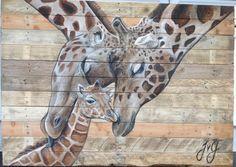 schilderij op steigerhout - Google zoeken