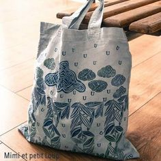 Détail 2-Tote bag bleu délavé