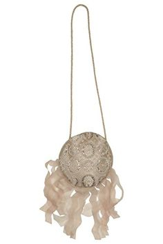 """Biscotti Girl's Luminous Lace Purse. Better hide this purse from Mom - with its pretty metallic lace and golden fringe accent, she may want to """"borrow"""" it!"""
