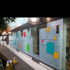 Colored and frosted window film.