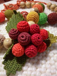 Купить Бусы Осенний боярышник в интернет магазине на Ярмарке Мастеров