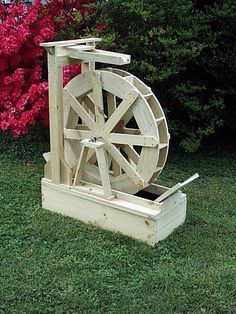 Water Crafts builds and sells water wheels, water wheel fountains and lawn…