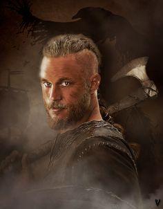 Ragnar Lothbrok, Vikings  download : http://nasud.deviantart.com/art/Ragnar-Lothbrok-508002636  Wall. tel. download : http://www.zedge.net/wallpaper/10509099/