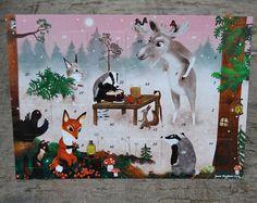 Super cute woodland creatures in Christmas calendar