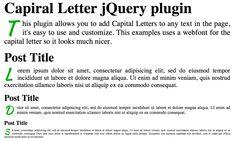 Capital Letter