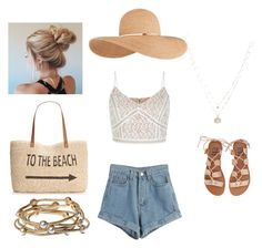 """Beach days"" by evecoutts ❤ liked on Polyvore featuring WithChic, Billabong, Style & Co., Eugenia Kim, LC Lauren Conrad and Majique"