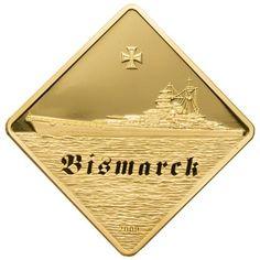 Palau - 2009 - 500 Dollars - The Bismarck Battleship Series - 2011 - 2008 Series Battleships Gold & Silver - Palau - Oceanie & Australia