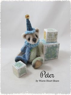 Peter - a handcrafted one-of-a-kind Artist Bear created by Carolyn Robbins at Warm Heart Bears