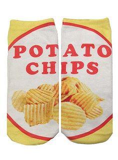 Potato Chip Ankle Socks
