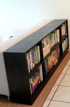 Shelf behind couch, bookcase behind sofa, bookshelf table, simple bookshelf, Decor, Home Diy, Furniture Diy, Diy Bookshelf Design, Bookcase, Bookcase Diy, Bookshelves, Low Bookshelves, Home Decor