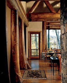 beautiful support beams, similar idea for door frames and windows