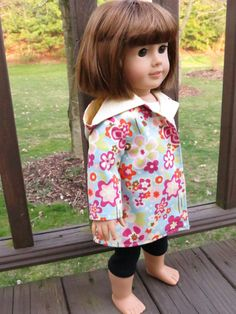 Bloomin' Spring coat for American Girl/18 inch dolls by momawake, $11.00
