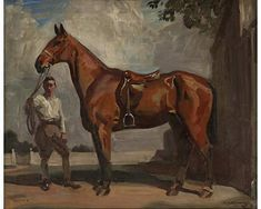 Sir Alfred James Munnings, Huntsman. Look at the english saddle - I use to ride on these. Very comfortable.