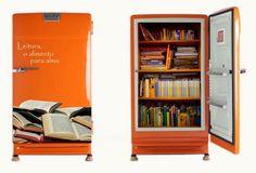 Geladeira biblioteca