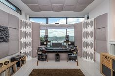 With engineering credits on four Grammy winning albums, Alastair McMillan has an amazing studio with a sea view for sound mixing. He currently tours with U2. Sound Engineer, Professional Audio, Studio Setup, U2, Albums, Engineering, Tours, Amazing, Room