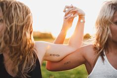 senior. sisters with tattoos of each other's birthdays in roman numerals    www.jayeads.com