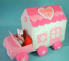 Felt toy Cake House pattern by fairyfox, via Flickr