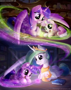 Princesses teach little ponies