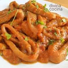 Calamares con salsa americana. Con esta misma receta de calamares en salsa americana puedes preparar chocos, chipirones y hasta pulpo. Puedes aumentar la sensación de picante si te gusta más así añadiendo más guindilla.