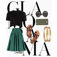 """Black and Green"" by the-meraki-company on Polyvore"