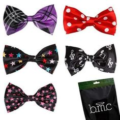 Bundle Monster Stylish 5in1 Adjustable Boys Bow Tie Tuxedo Collection - Set 4