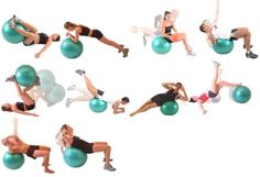 Resultado de imagen de tablas de ejercicios para casa fitball