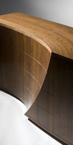 """""""Wave"""" - sideboard in Fumed Oak. Cabinet Furniture, Fine Furniture, Wooden Furniture, Furniture Design, Furniture Repair, Luxury Furniture, Furniture Inspiration, Woodworking, House Design"""