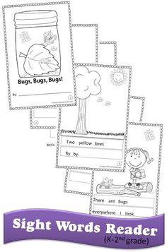 These fun FREE Sight Word Readers for K-2 are a great way to practice and memorize those all important sight words.