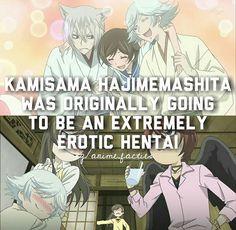 Anime facts kamisama hajimemashte | omg, can't even imagine kamisama kiss this way, i'm dying..
