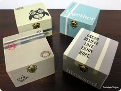 Painted Wooden Gift Boxes