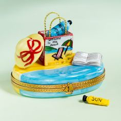 Welcome to the Beach Limoges Trinket Box