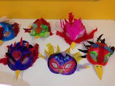 * * *La boite à idées de l' atelier 3B* * *: Masque oiseau en relief 3d Figures, Relief, 3 D, Paper Feathers, Carnival Mask, Marker