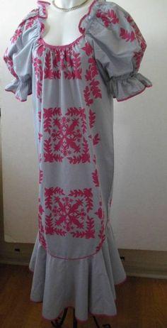 Vintage Hawaiian Muumuu Dress Yens Casual made in Hawaii Ruffled Size Small S #YensCasualFashion #Muumuu #Casual