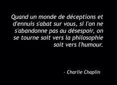 Désespoir... Philosophie... Humour