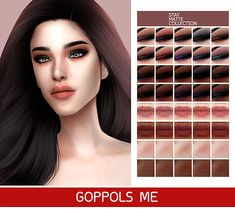 Please don't re-upload 4 cc 4 cc finds Sims 4 Cc Skin, Sims 4 Mm Cc, Sims 4 Game Mods, Sims Mods, Blush Makeup, Skin Makeup, Tumblr Sims 4, Sims 4 Cc Makeup, Sims 4 Characters