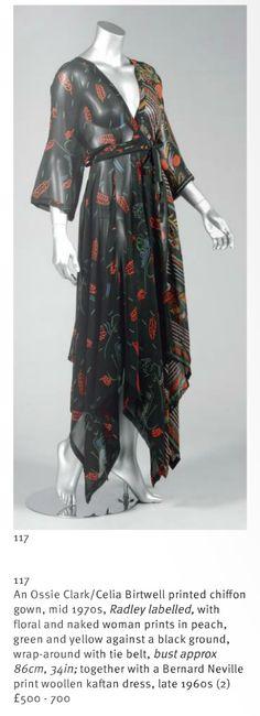 Celia Birtwell print Ossie Clark dress, Kerry Taylor Auctions