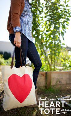 DIY Heart Tote