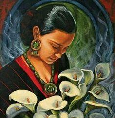 oil on canvas, Art by Ricardo Ortega Mexican Artwork, Mexican Paintings, Mexican Folk Art, Frida Y Diego Rivera, Hispanic Art, Latino Art, Mexico Art, Chicano Art, Chicano Tattoos