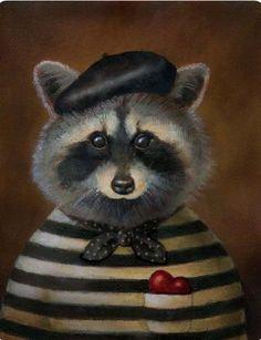 Lisa Zador | OIL | Raccoon Portrait