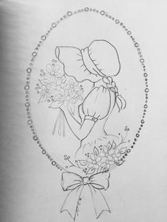 vintage transfer patterns for embroideryvintage french embroidery patterns Embroidery Flowers Pattern, Embroidery Patterns Free, Hand Embroidery Stitches, Hand Embroidery Designs, Vintage Embroidery, Embroidery Hoop Art, Cross Stitch Embroidery, Girl Drawing Sketches, Girly Drawings