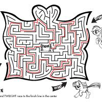 Activity Pony Maze TONS Of My Little Activities Printable And Computer Games