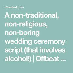 My Non-Religious, Short and Sweet Wedding Ceremony Script par 2 ...