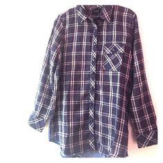 Tolani Boho/Grunge Flannel Tolani Boho/Grunge flannel Tolani Tops Button Down Shirts