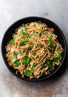 Nigella Lawson's Noodles with Mushrooms and Mangetouts