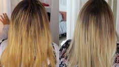How to Tone Brassy Hair – XoXo, KayMo Toner For Orange Hair, Tone Orange Hair, Dark Orange Hair, Dark To Light Hair, Dark Hair, Ombre Hair At Home, Diy Ombre Hair, Toning Blonde Hair, Brassy Hair
