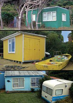 Kiwi Baches 2 by Nathan Secker Small Beach Houses, Seaside Holidays, Global Home, Kiwiana, Beach Shack, Good House, Beach Art, Prefab, Building Materials