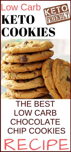 Low carb keto cookies, the best low carb chocolate chip cookies recipe Low Carb Keto Kekse, das beste Low Carb Schokoladenkeks Rezept Low Carb Chocolate Chip Cookie Recipe, Keto Chocolate Chips, Chocolate Chip Recipes, Chocolate Cookies, Keto Cookies, Almond Flour Cookies, Low Fat Cookies, Keto Desserts, Keto Snacks