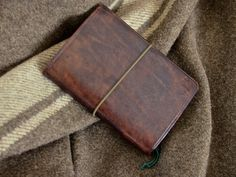 Handmade Bison Brown Leather Expedition Notebook by AnachronistInc, $39.99