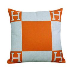 Hermes Style H Pillow Cover
