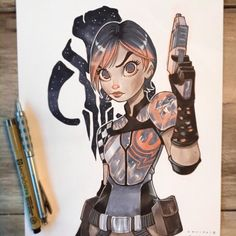 chrissie zullo, Commission of the other Mandalorian, Sabine Wren! Character Art, Character Design, Character Concept, Concept Art, Drawing Machine, Dragon Sketch, Kitty Pryde, Overwatch Fan Art, Artist Alley